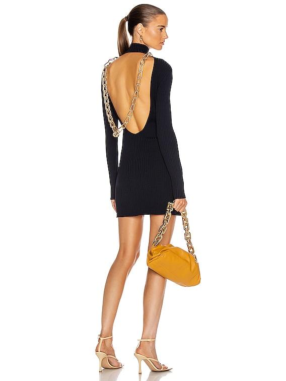 Lustrate Chain Mini Dress in Midnight