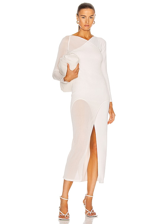 Shadow Inverse Dress in Ivory