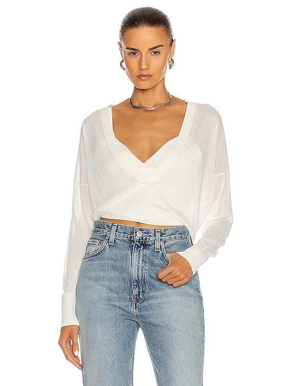 Loop Layered Sweater in White