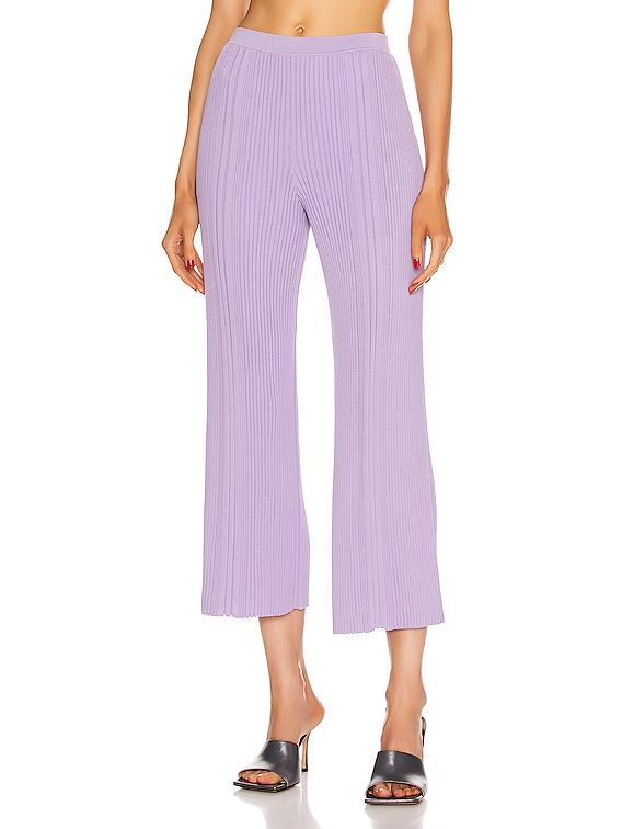 Pinnacle Pleat Cropped Pant in Violet
