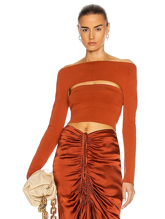 Two Piece Tube Top in Brick