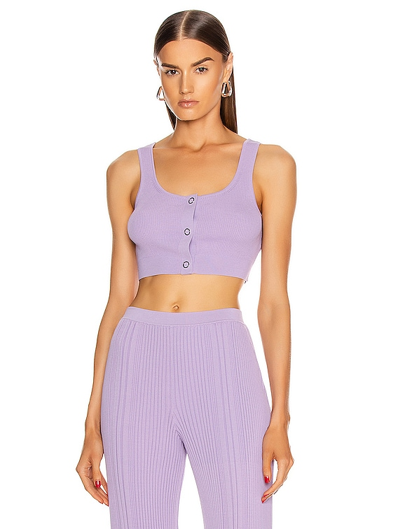 Pinnacle Pleat Crop Top in Violet