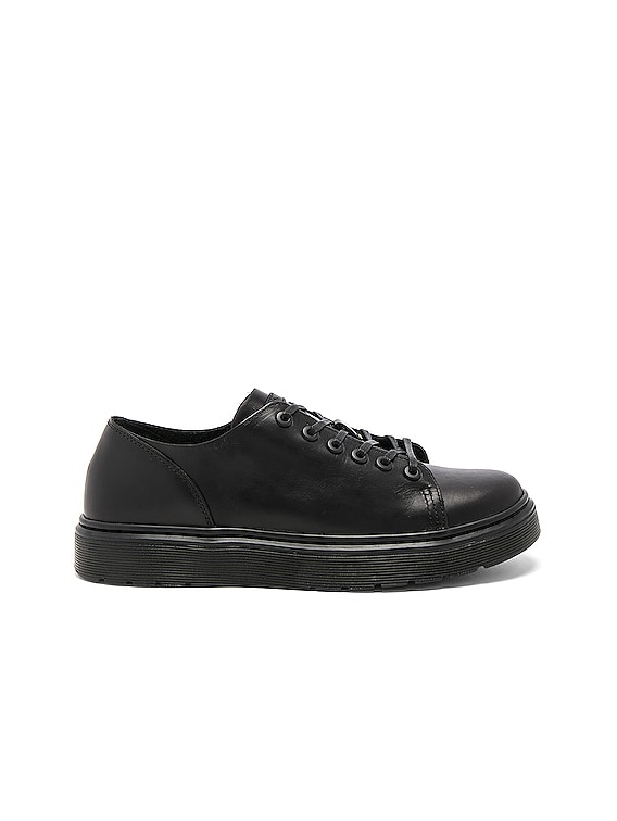 Dante 6 Eye Leather Shoes in Black