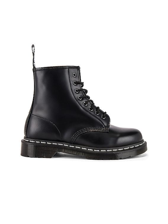 1460 White Stitch Boot in Black