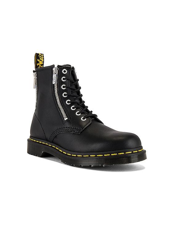 1460 Zip Nappa Boot in Black