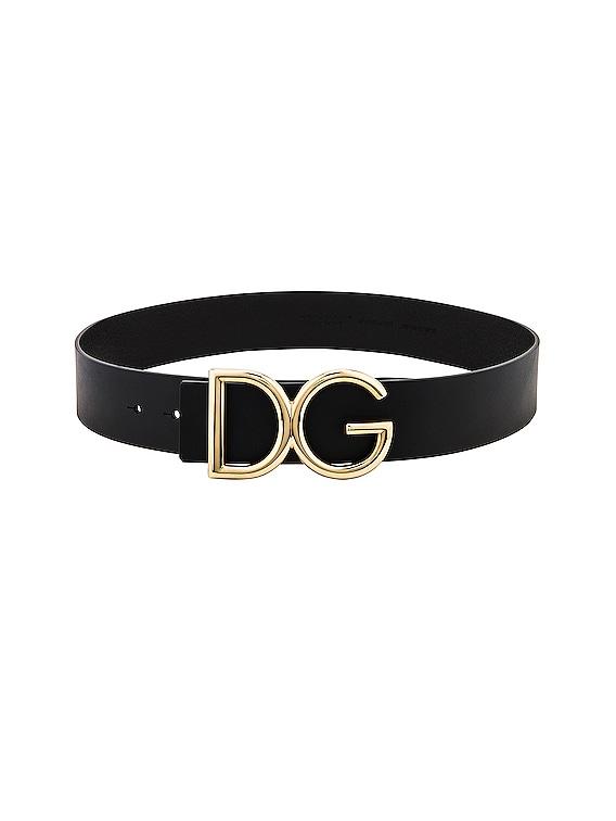 Logo Belt in Black & Gold
