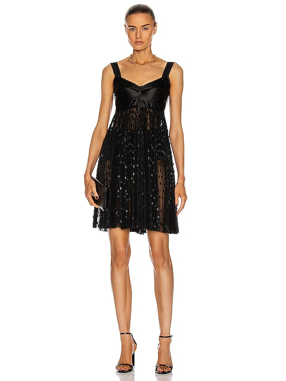 Sleeveless Mini Dress in Black