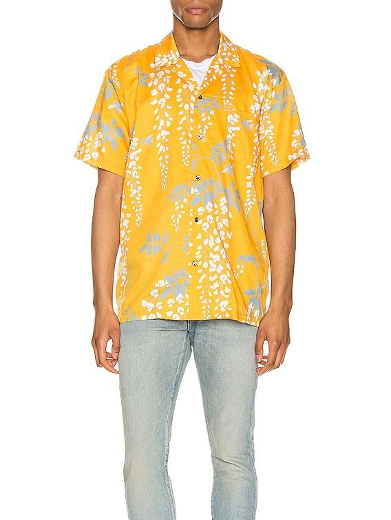 Hawaiian Shirt in Over The Falls Turmeric