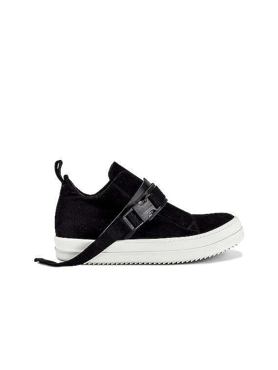 Strap Island Sneaker in Black & White