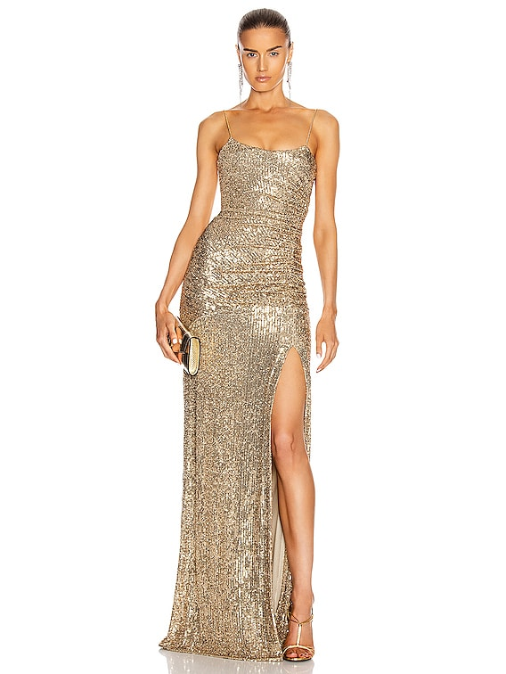 Sequin Gown in Gold