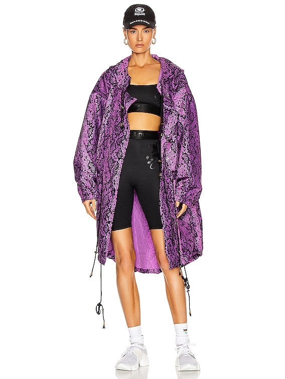for FWRD Parka in Purple & Black Python Print