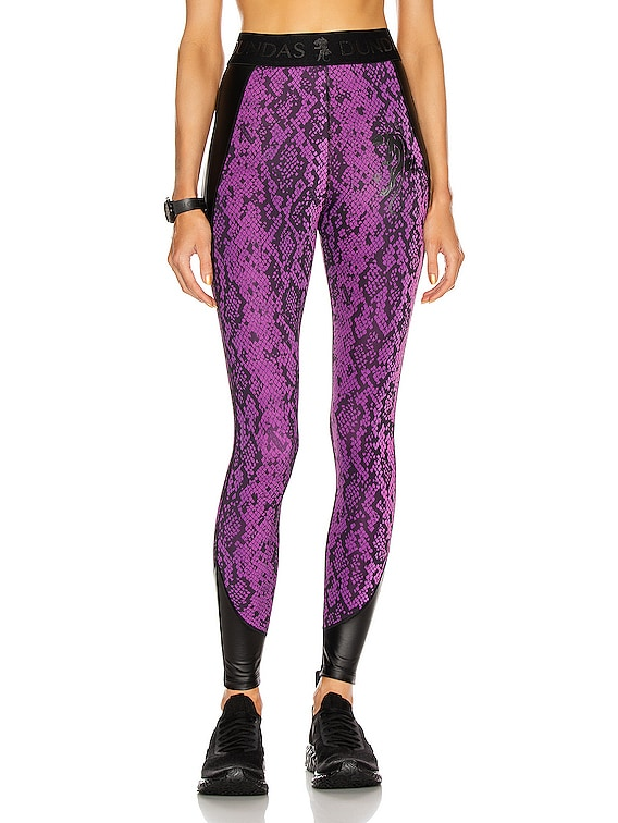 for FWRD Legging in Purple & Black Python Print