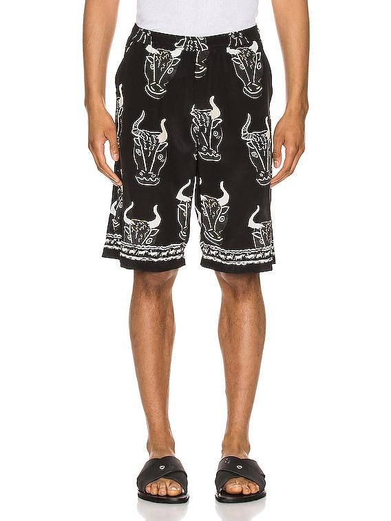 Larnax Board Shorts in Black Multi