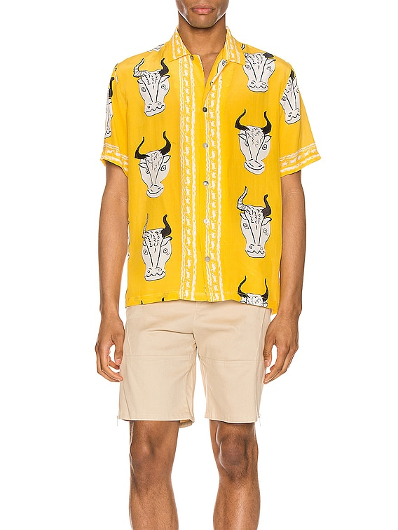 Larnax Aloha Shirt in Yellow Multi