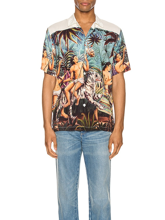 Who Looks Outside Aloha Shirt in Multi