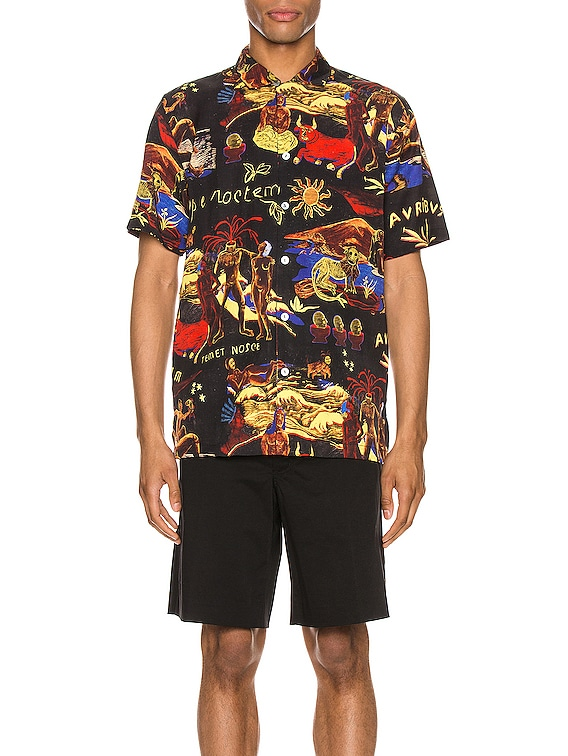 Temet Nosce Aloha Shirt in Black Multi