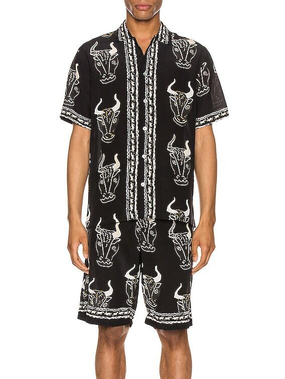Larnax Aloha Shirt in Black Multi