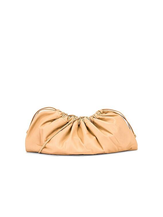 1.3 Maxi Drawstring Bag in Nude Nappa Leather