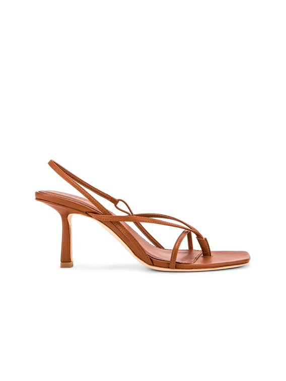 2.4 Flip Flop Heel in Tan Nappa Leather