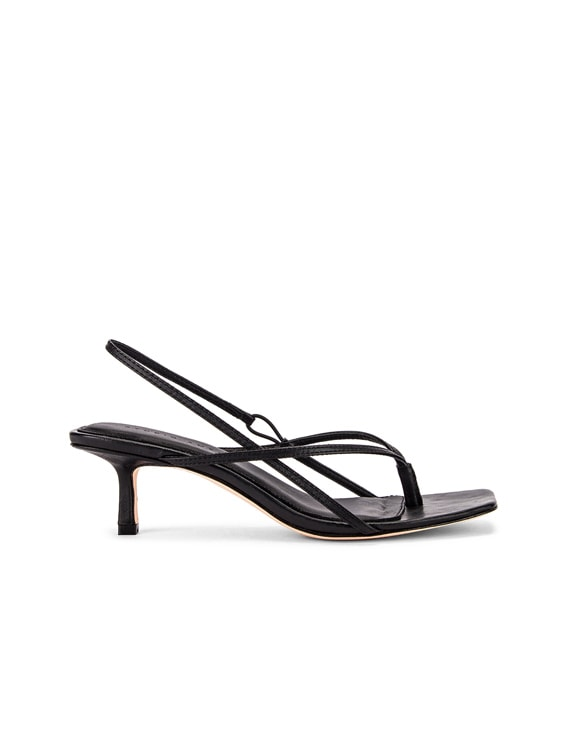 2.6 Flip Flop Heel in Black Nappa Leather
