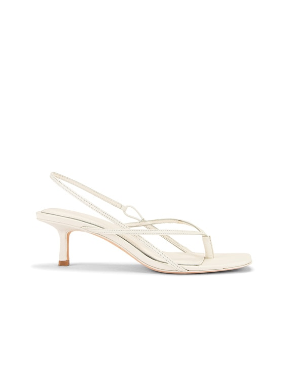 2.6 Flip Flop Heel in White Nappa Leather