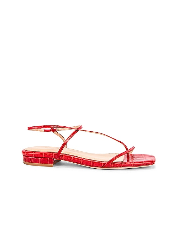 1.2 Sandal in Red Croc