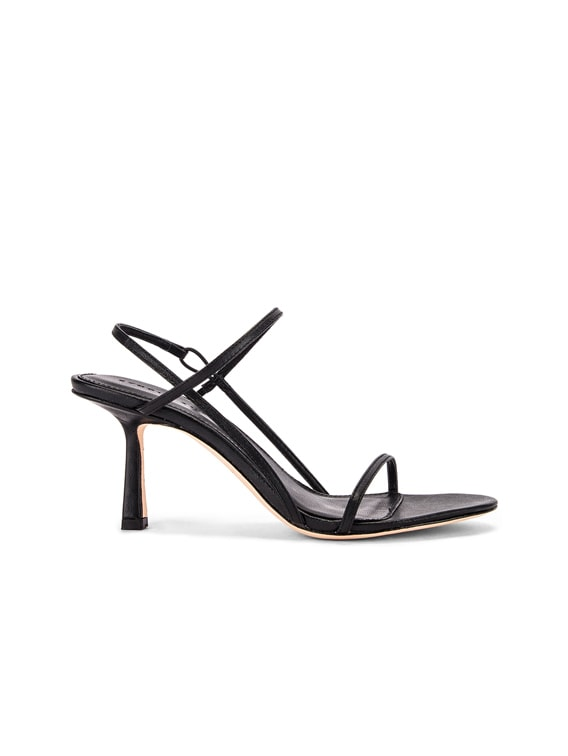 2.3 Slingback Heel in Black Nappa Leather