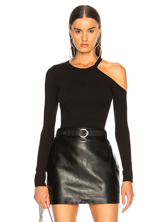 for FWRD Exposed Shoulder Top in Black