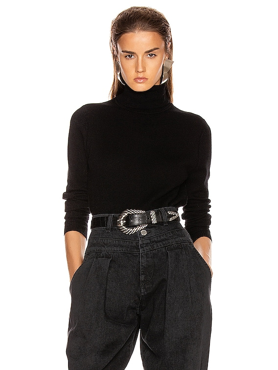 Delafine Turtleneck Sweater in True Black