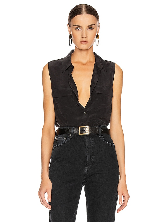 Slim Signature Top in Black