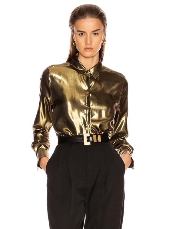 Burnel Top in Metallic Gold