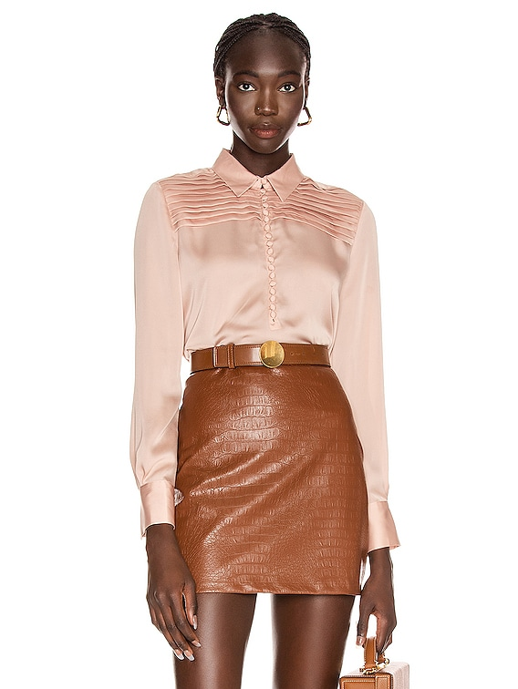 Bina Top in Mahogany Rose