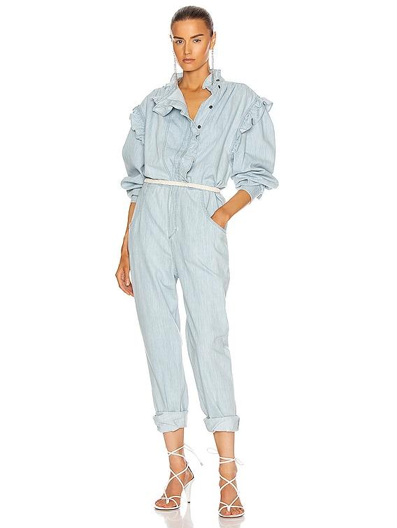 Gayle Jumpsuit in Light Blue