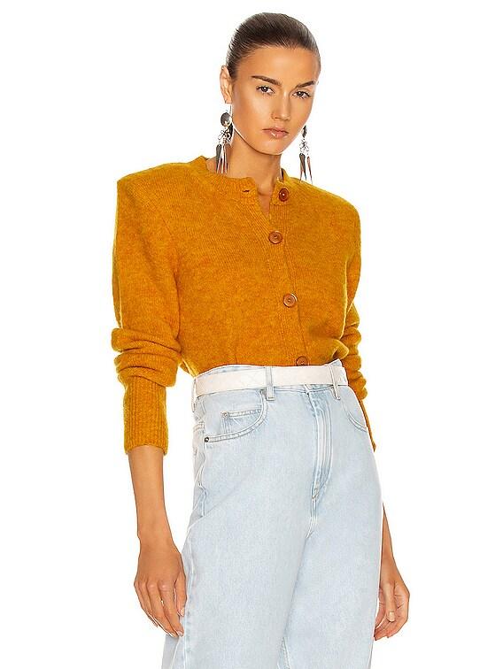 Hudson Cardigan in Yellow