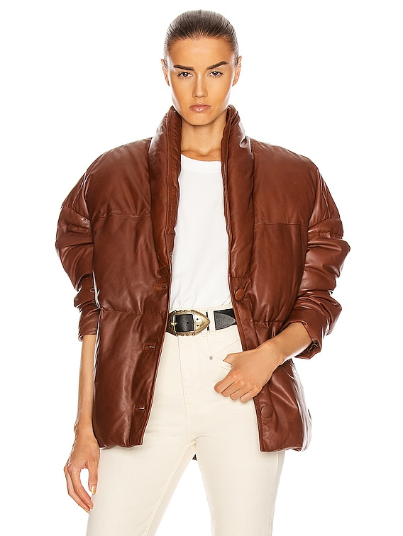 Leather Carterae Jacket in Brown