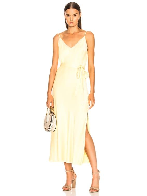 exquisite design 100% genuine outlet on sale FRAME Satin Tie Slip Dress in Golden Haze   FWRD