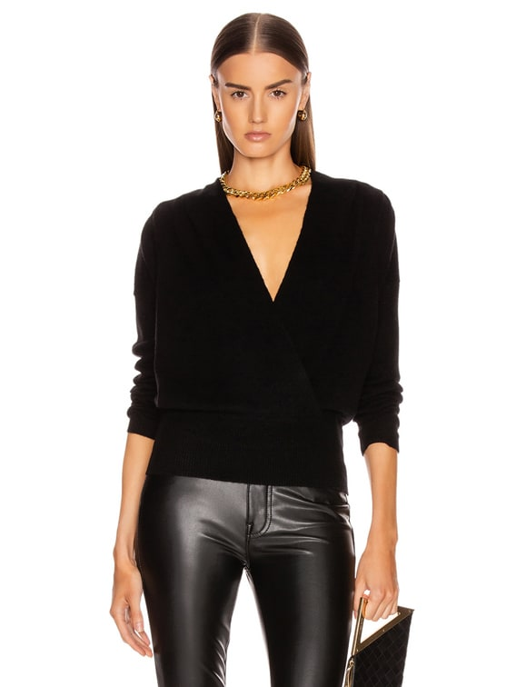 Criss Cross Sweater in Noir