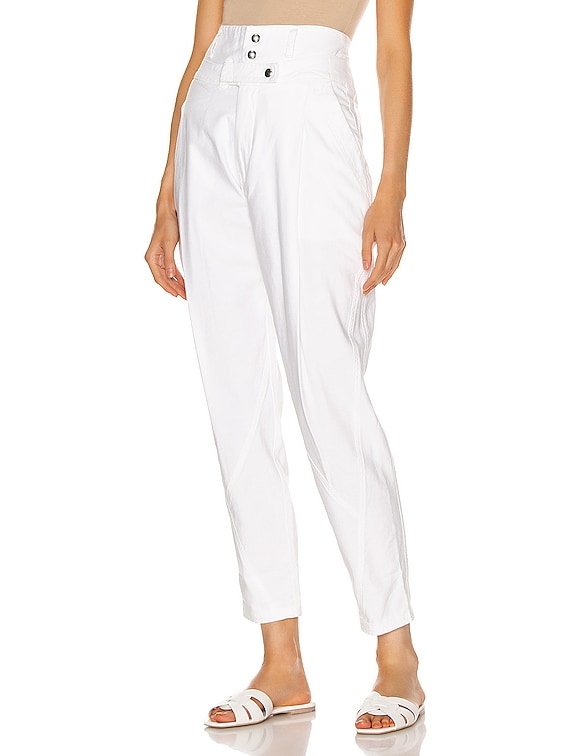 Twisted Trouser in Blanc