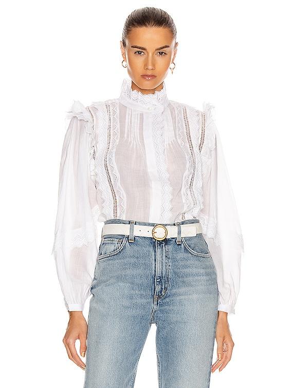 Natalie Top in Blanc