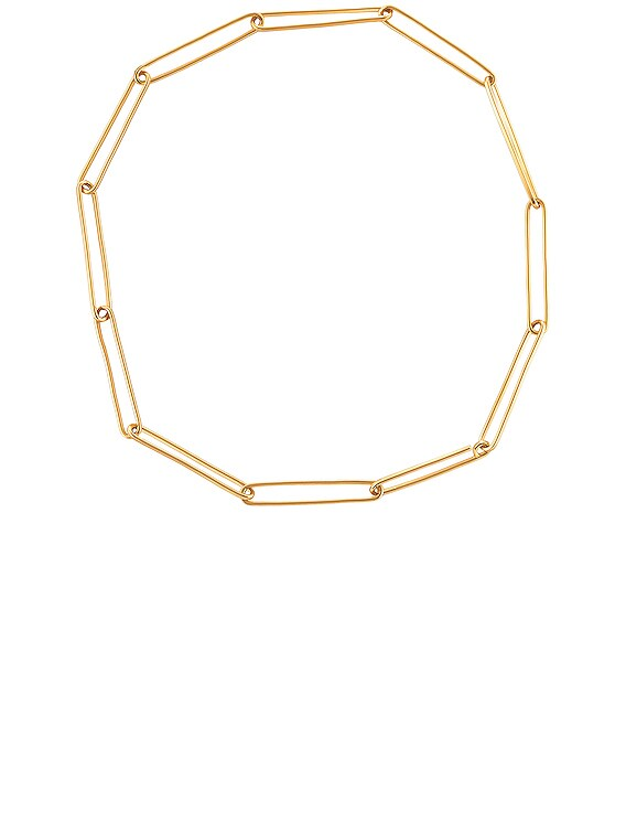 Jono Chain Necklace in Brass