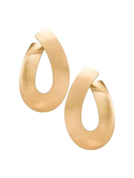 Liike Medium Earrings in Brass