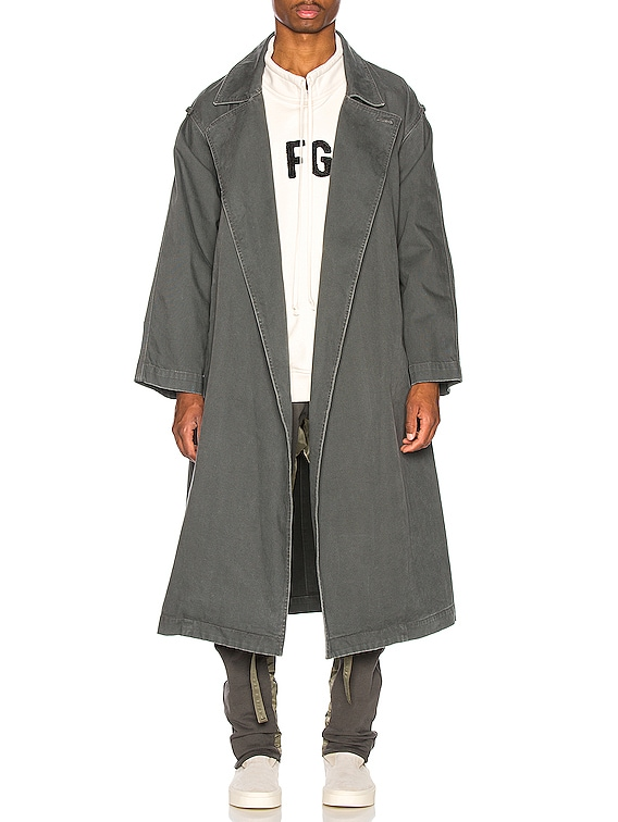 Canvas Trenchcoat in Seaweed