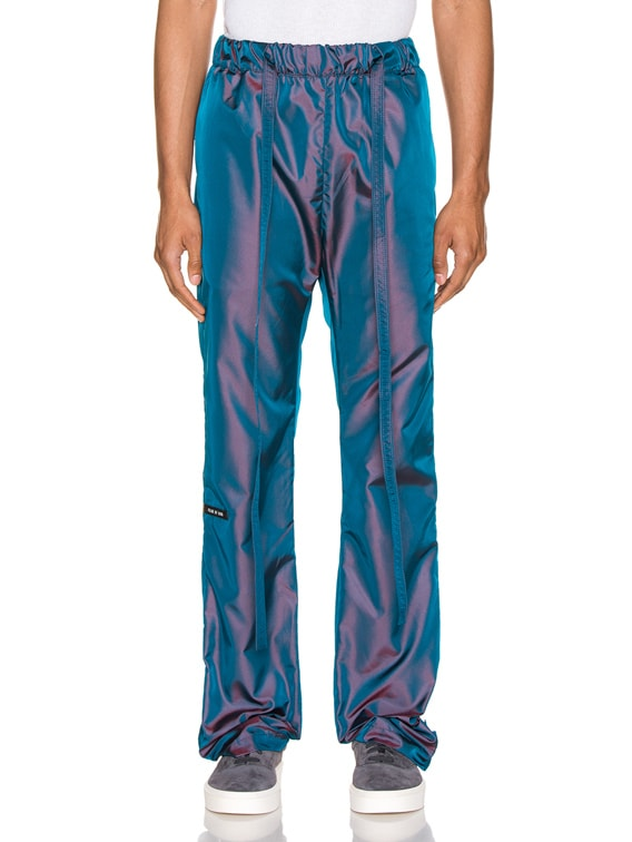 Baggy Nylon Pant in Blue Iridescent