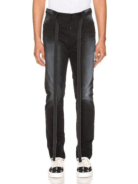 Canvas Slim Pant in Black