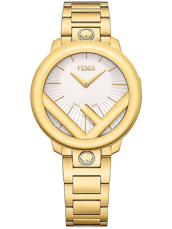 Runaway Circle Watch in Gold