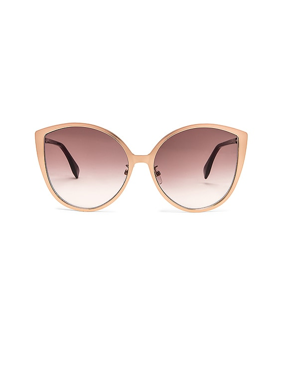 Cat Eye Sunglasses in Gold Copper