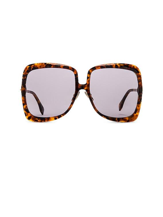 Promeneye Oversize Sunglasses in Havana Brown & Grey Blue