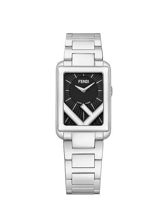 Runaway Rectangle Watch in Silver