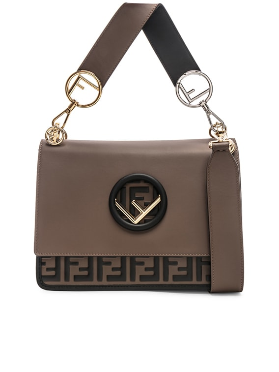 Two Tone Logo Shoulder Bag in Chocolate