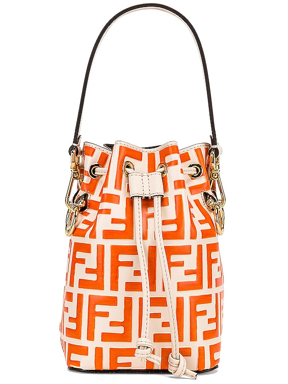Mini Logo Mon Tresor in Cream & Orange